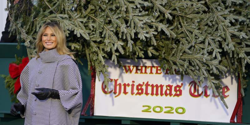 Melanie Trumpová nedávno zveřejnila fotky výzdoby Bílého domu na vánoční čas.