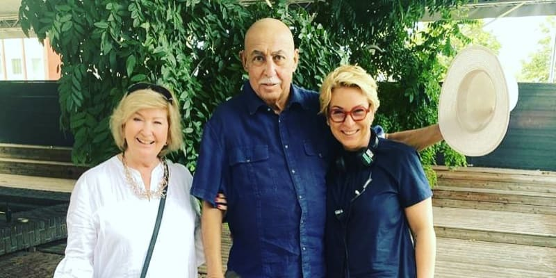 Andy Hryc s manželkou a dcerou v polovině srpna 2020.