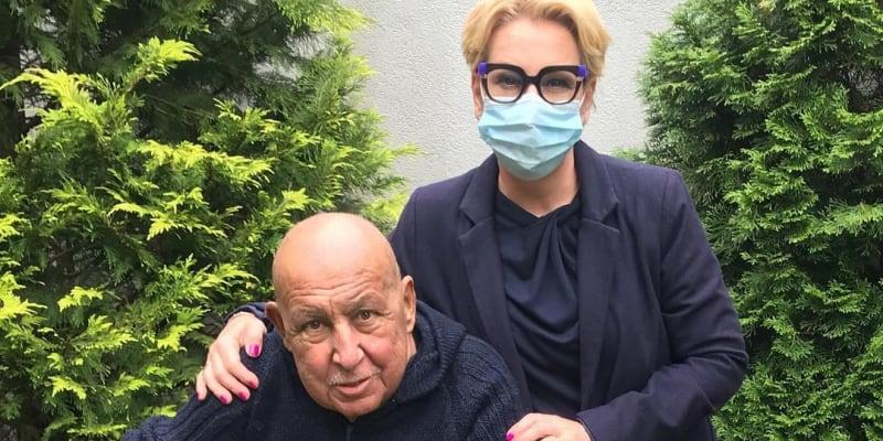 Andy Hryc s dcerou na konci června 2020.