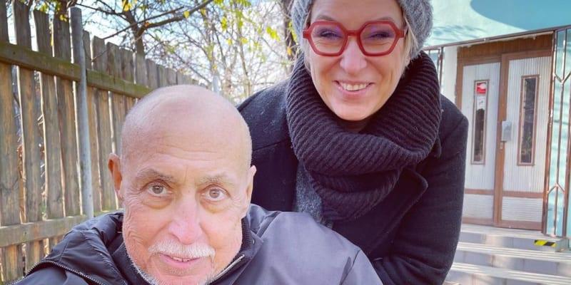 Andy Hryc s dcerou koncem listopadu 2020.
