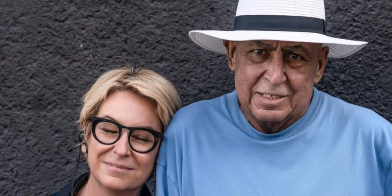 Andy Hryc s dcerou na začátku srpna 2020