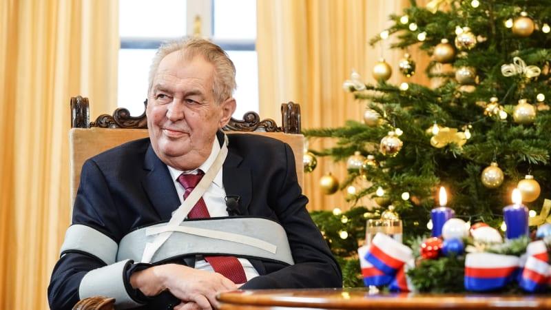 Sledujte vánoční poselství prezidenta Zemana: K čemu letos vyzval národ?
