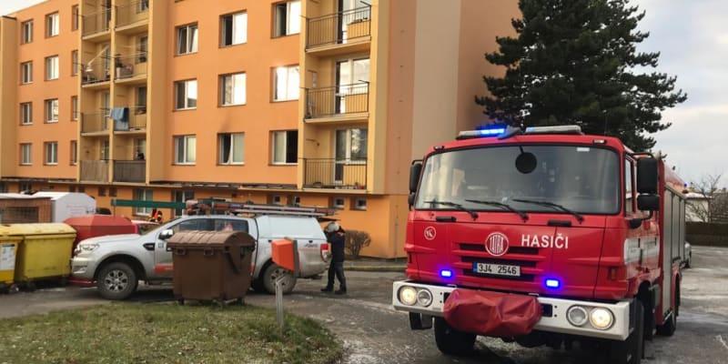 Požár bytu v Havlíčkově Brodu