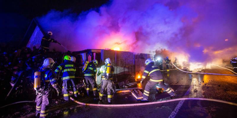 Požár byl poměrně rozsáhlý.