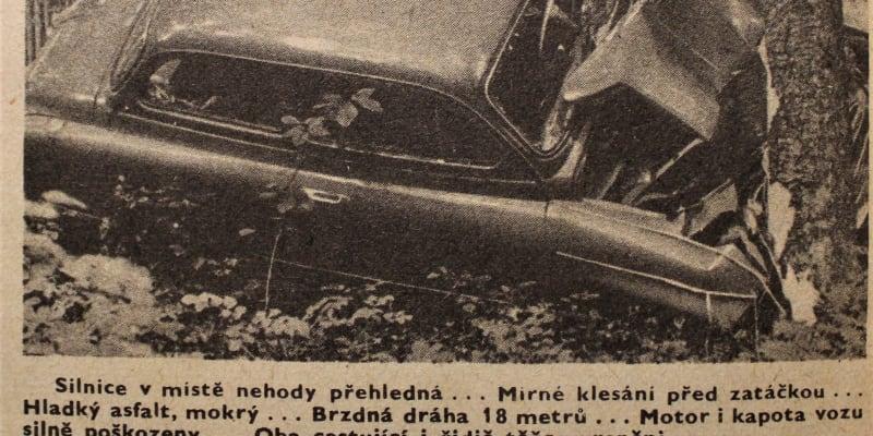 Nehoda z roku 1960, snímek z časopisu VTM