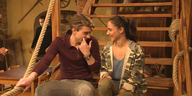 Eva Burešová a Marek Lambora v seriálu Slunečná
