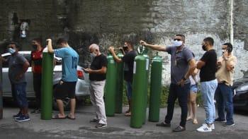 Totální kolaps v Brazílii. Pacienti s covidem se dělí o kyslík, který není k dostání