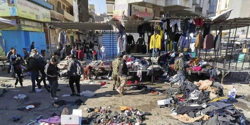 Trh v Bagdádu po dvojici sebevražedných bombových atentátů