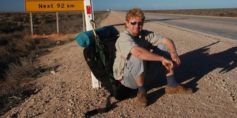 Roman Vehovský na stopu v Austrálii