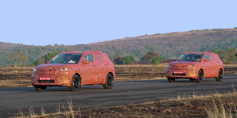 Nové SUV bude podle všeho vizuálně velmi podobné před rokem představené indické studii Škoda Vision IN.