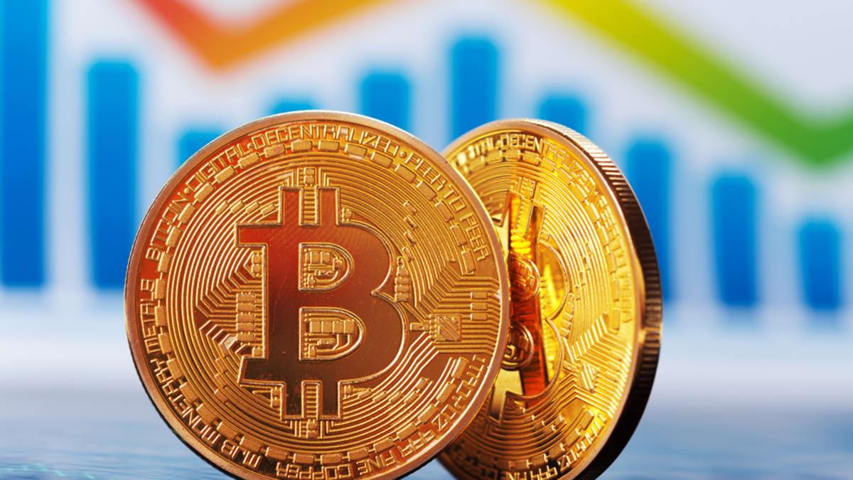 Digitální kryptoměna Bitcoin.