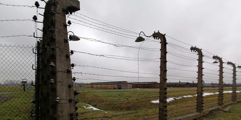 Koncentrační tábor Osvětim-Březinka, 25. ledna 2021. Muzeum je kvůli pandemii uzavřeno