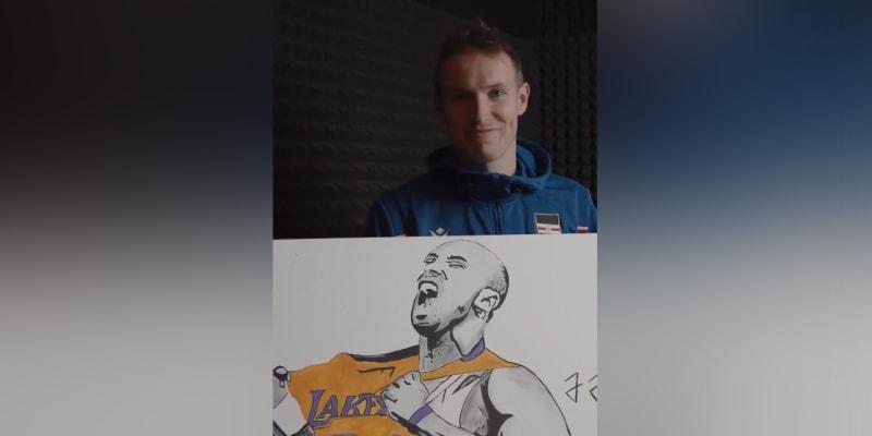 Fotbalista Jakub Jankto velmi povedeně zvěčnil Kobeho Bryanta, který loni zemřel při zřícení vrtulníku v Kalifornii.