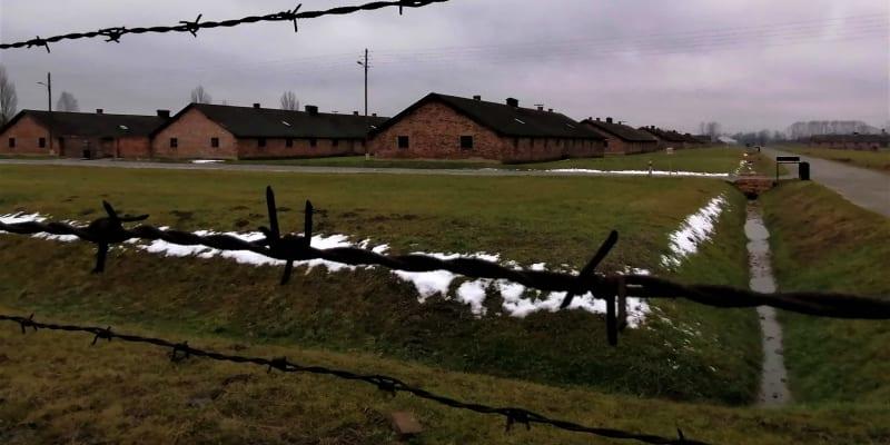 Koncentrační tábor Osvětim-Březinka, 25. ledna 2021.  Kvůli koronaviru je areál uzavřen
