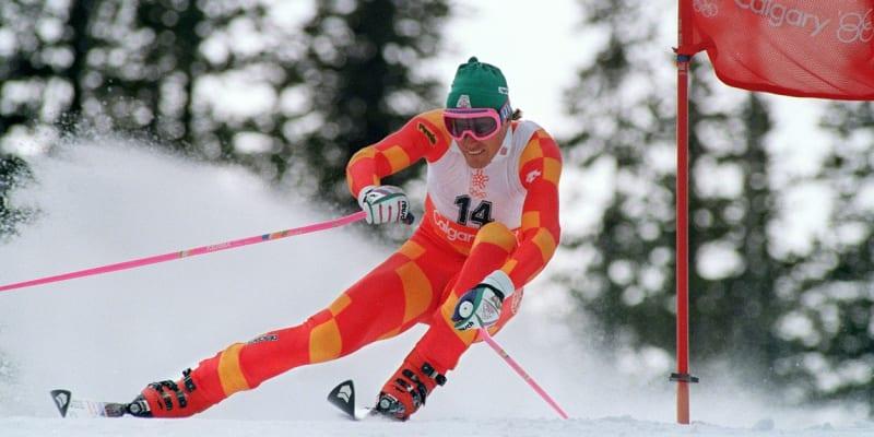 Pirmin Zurbriggen na olympiádě v Calgary v roce 1988