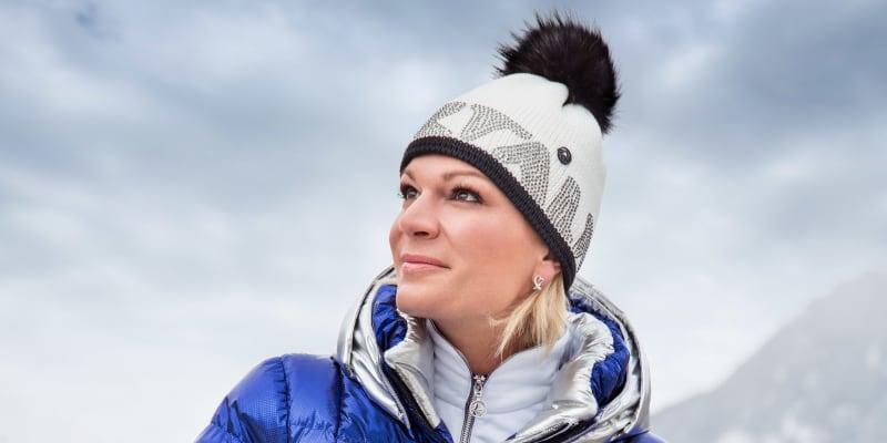 Maria Höflová-Rieschová ve své kolekci pro výrobce Sportalm.