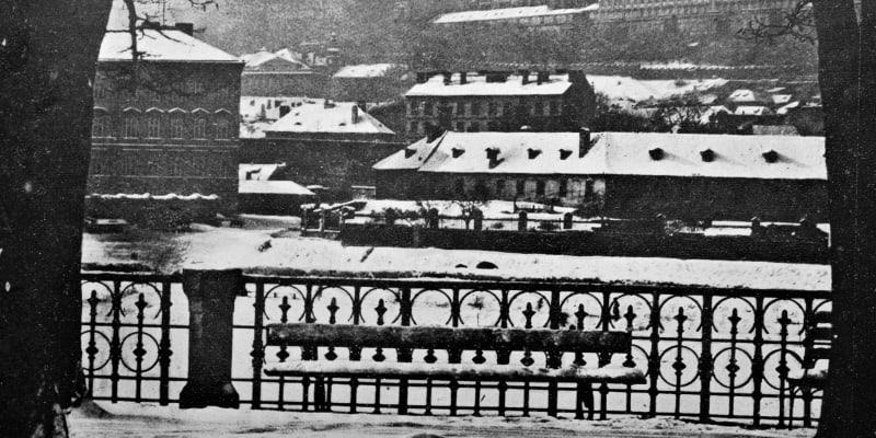 Zasněžená Praha v  únoru 1929  (zdroj: časopis Světozor)
