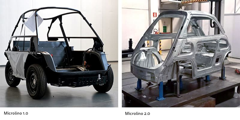 Rozdíl mezi šasi starého a nového prototypu.