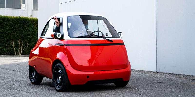 Nový prototyp Microlino 2.0 během testovacích jízd