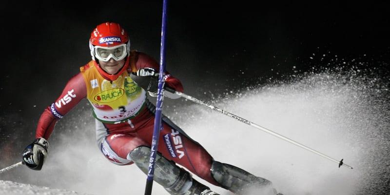 Šárka Záhrobská na trati zlatého závodu v Åre