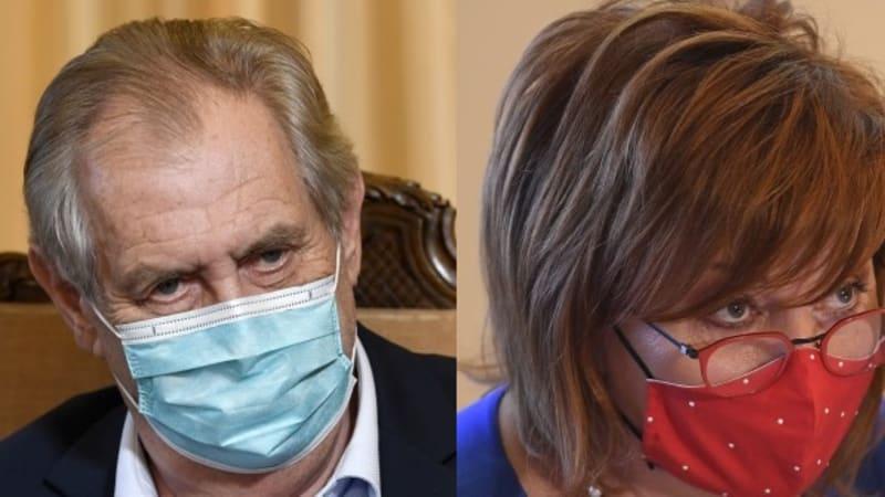 Zeman přijal na Hradě ministryni Schillerovou. Řeší půlbilionový schodek