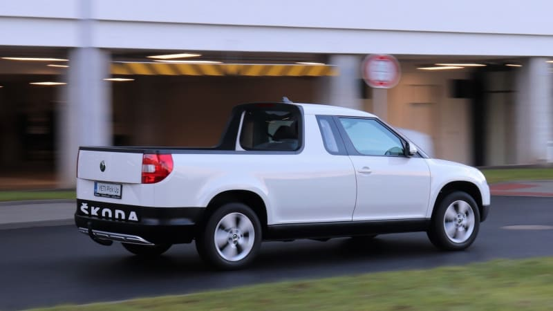 Jako první na světě jsme viděli utajený koncept Škodovky, model Yeti Pick-up
