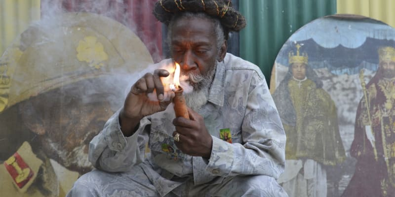 Neville O'Riley Livingstone alias Bunny Wailer na fotografii z roku 2014