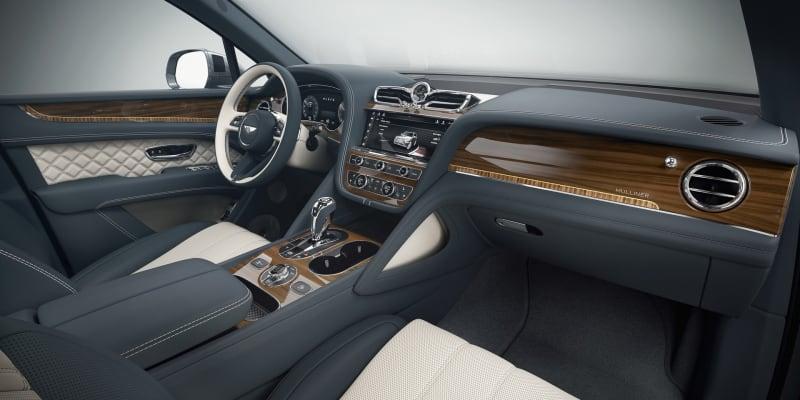 Interiér Bentley Bentayga od úpravce Mulliner