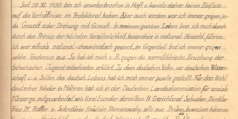Žádost o milost Jana Uhra, dědečka historika J. B. Uhlíře, odbojáře Zemského národního výboru, Obrany národa a Obce sokolské, popraven v Berlíně 27. 10. 1942