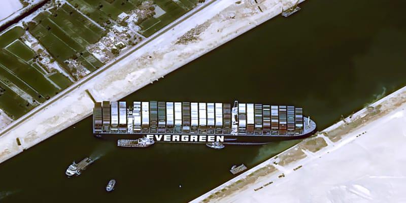 Loď Ever Given blokovala Suezský průplav.