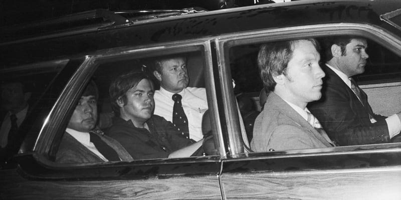 John Hinckley Jr. v autě policie
