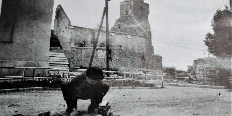 Rozstřílená Osoblaha na jaře 1945