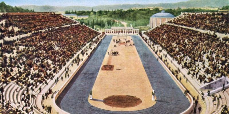 Panathénský stadion v době prvních novodobých olympijských her