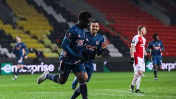 Sešívaná pohádka v Evropské lize končí. Slavia doma dostala od Arsenalu lekci
