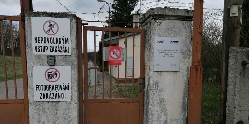 Areál muničních skladů ve Vrběticích v neděli 18. dubna