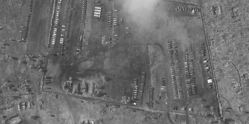 Ruská vojenská základna poblíž města Voroněž