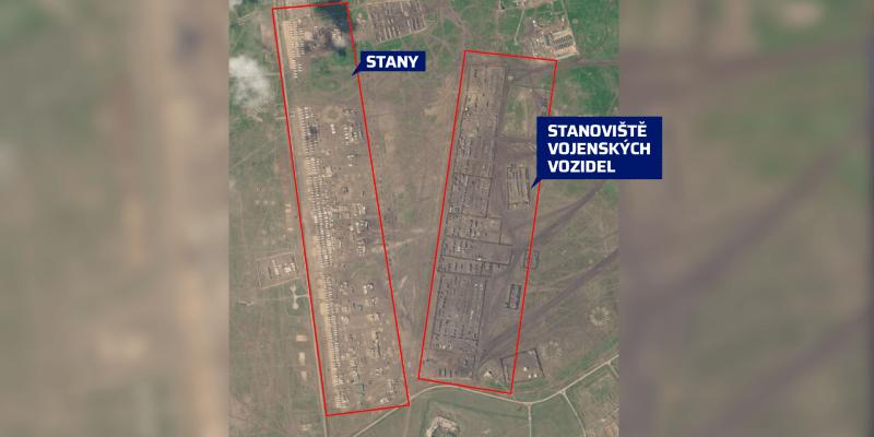 Ruský vojenský tábor na východě anektovaného Krymu