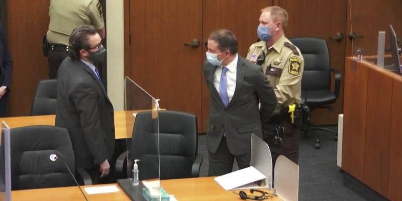 Bývalý policista Derek Chauvin byl shledán vinným.