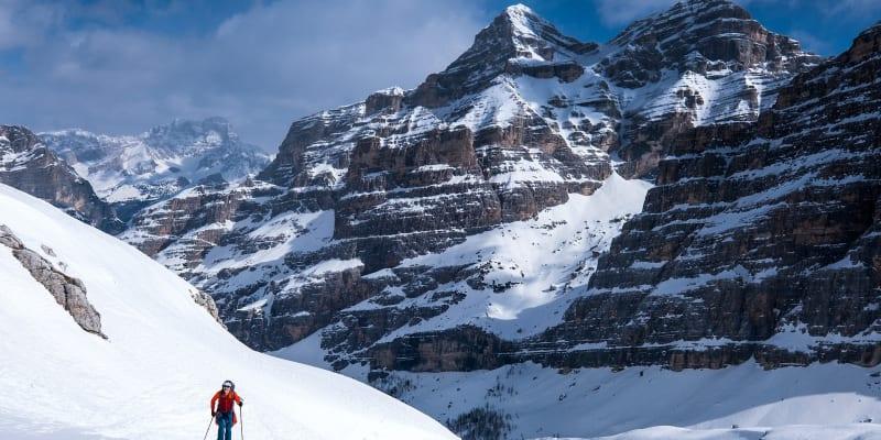 Jiří Langmajer při skialpové túře v italských Dolomitech.