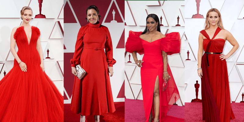 Předávání cen Oscar ovládla červená a rudá barva. Oblékly jí třeba herečky Reese Witherspoonová nebo Amanda Seyfriedová.