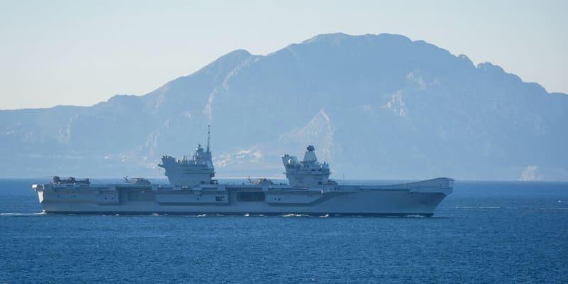 Britská letadlová loď HMS Queen Elizabeth popluje do Jihočínského moře.