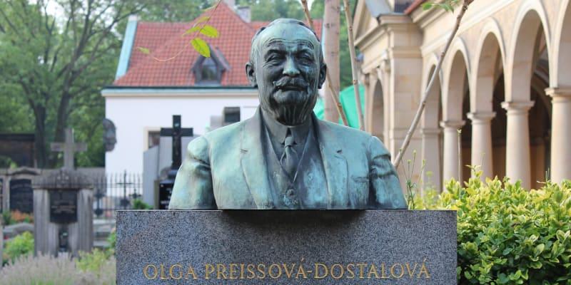 Hrob Jaroslava Preisse na Vyšehradském hřbitově