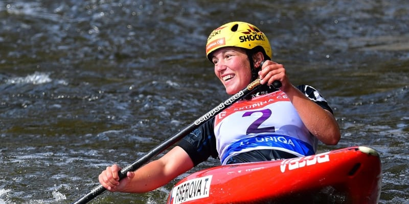 Tereza Fišerová vybojovala stříbro na mistrovství Evropy ve vodním slalomu.