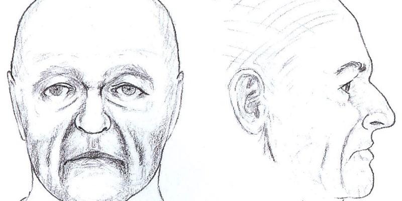 Policejní rekonstrukce přibližné podoby muže dosud neznámé totožnosti