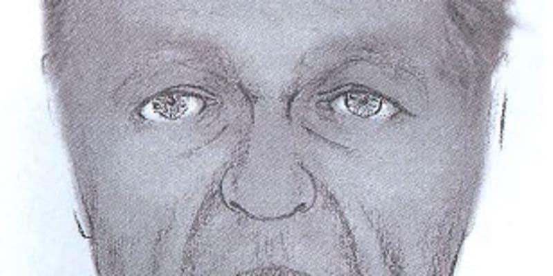 Policejní rekonstrukce přibližné podoby muže dosud neznámé totožnosti.