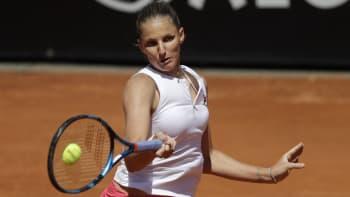 Plíšková porazila Martičovou a potřetí za sebou se v Římě dostala do finále