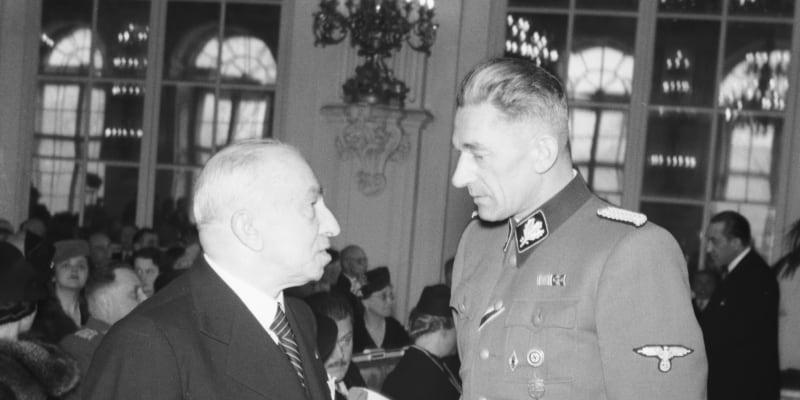 S protektorátním prezidentem Emilem Háchou.