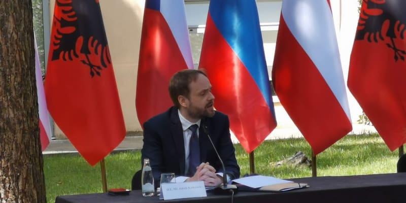 Ministr zahraničí Jakub Kulhánek o víkendu navštívil Severní Makedonii a Albánii.