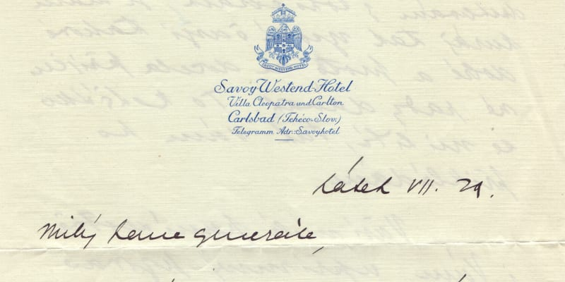 Dopis Masarykovy dcery Alice pro přednostu Vojenské kanceláře Pažského Hradu Sylvestra Bláhu. (Autor: Archiv Dagmar Hamšíkové)