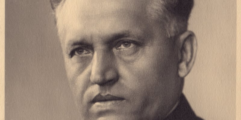Přednosta Vojenské kanceláře prezidenta republiky Sylvestr Bláha. (archiv Dagmar Hamšíkové)